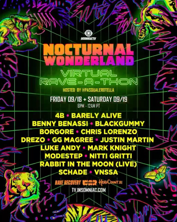 Nocturnal Wonderland Virtual Rave-A-Thon Live Stream